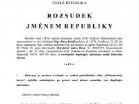 rozsudek jménem republiky brno kohoutovice kurýr kohoutovický radnice soud kalčíková01