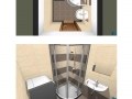 Vizualizace 2-1, 3-1 sprcha Bellova BJ2