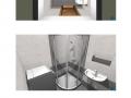 Vizualizace 2-1, 3-1 sprcha Bellova BJ3