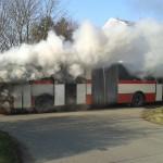 V Kohoutovicích hořel autobus