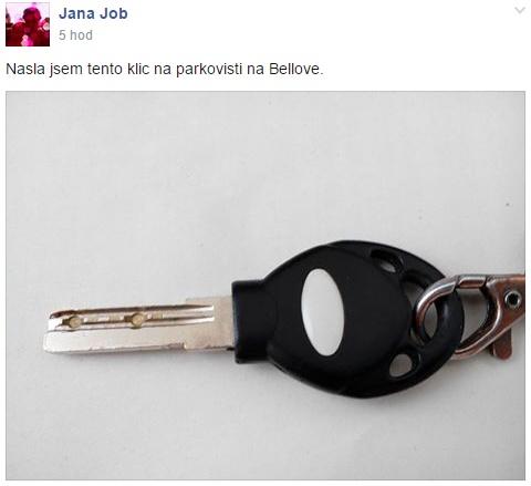 ztracené-klíče-brno-kohoutovice-parkoviště-Bellova