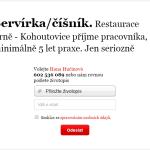 Nabídka práce: Servírka/číšník – restaurace NATRATI