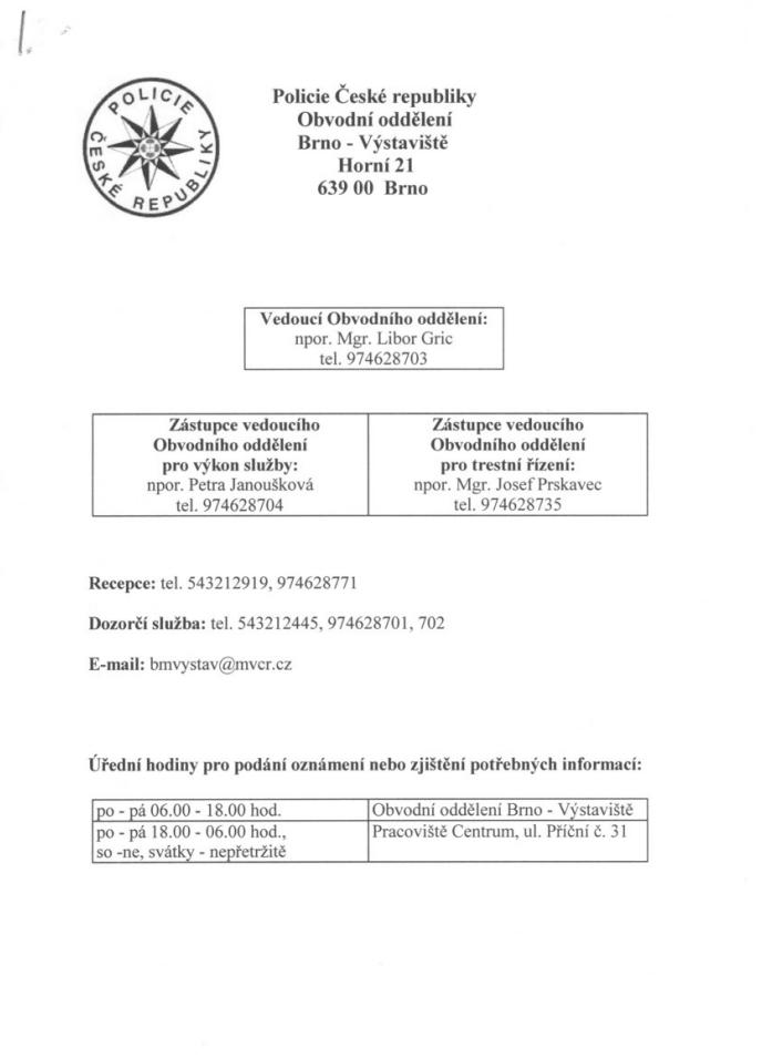 Policie-České-republiky-obvodní-oddělení-Brno-Výstaviště-Brno-Kohoutovice