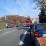 Přerušení trolejbusové dopravy – porucha elektrického vedení