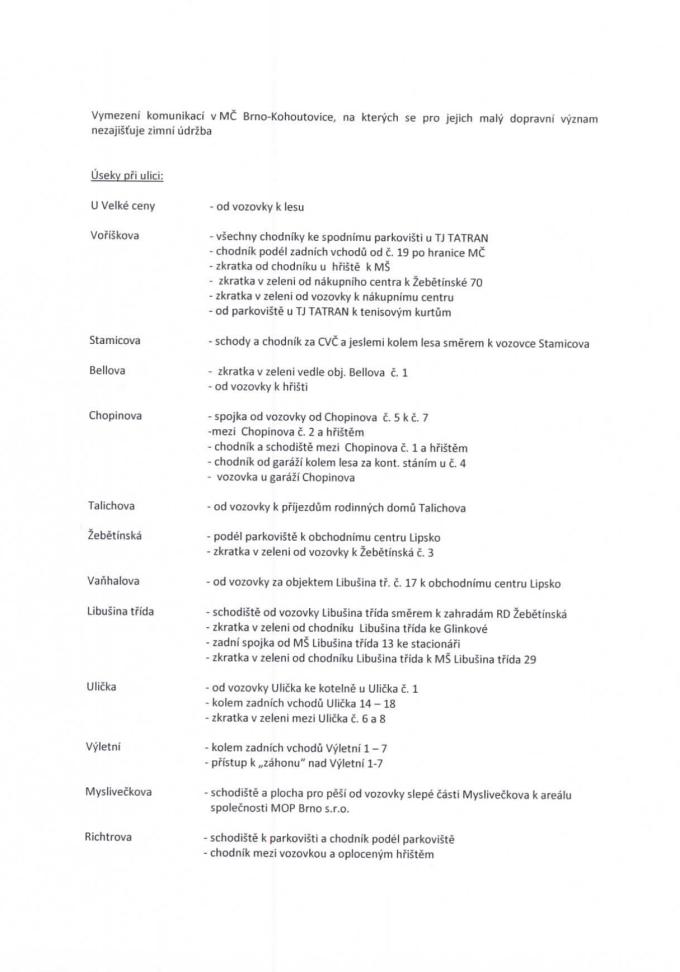 komunikace-bez-zimní-údržby-brno-kohoutovice