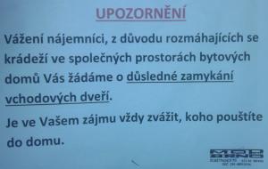MOP-Brno-Kohoutovice-upozornění-krádeže-nástěnka
