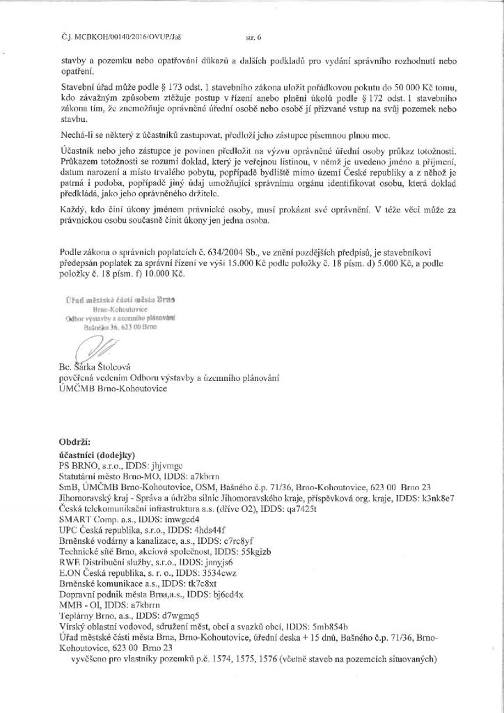 Zahájení stavebního řízení a pozvání k ...ům a dům s obchodními plochami_6