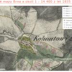 Kohoutovice na historických vojenských mapách