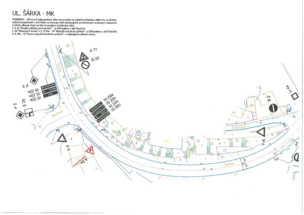 Veřejná vyhláška - oznámení o záměru st...zu na pozemní komunikace ul. Šárka-brno-kohoutovice-mojekohoutovice-02