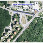 """Situace v lokalitě """"OKO"""": Dopravní omezení – okružní křižovatka Žebětínská"""