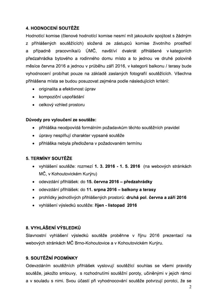 """VYHLÁŠENÍ SOUTĚŽE """"KOHOUTOVICE PŘEDZAHRÁDKA 2016"""" - brno-kohoutovice-mojekohoutovice-2"""