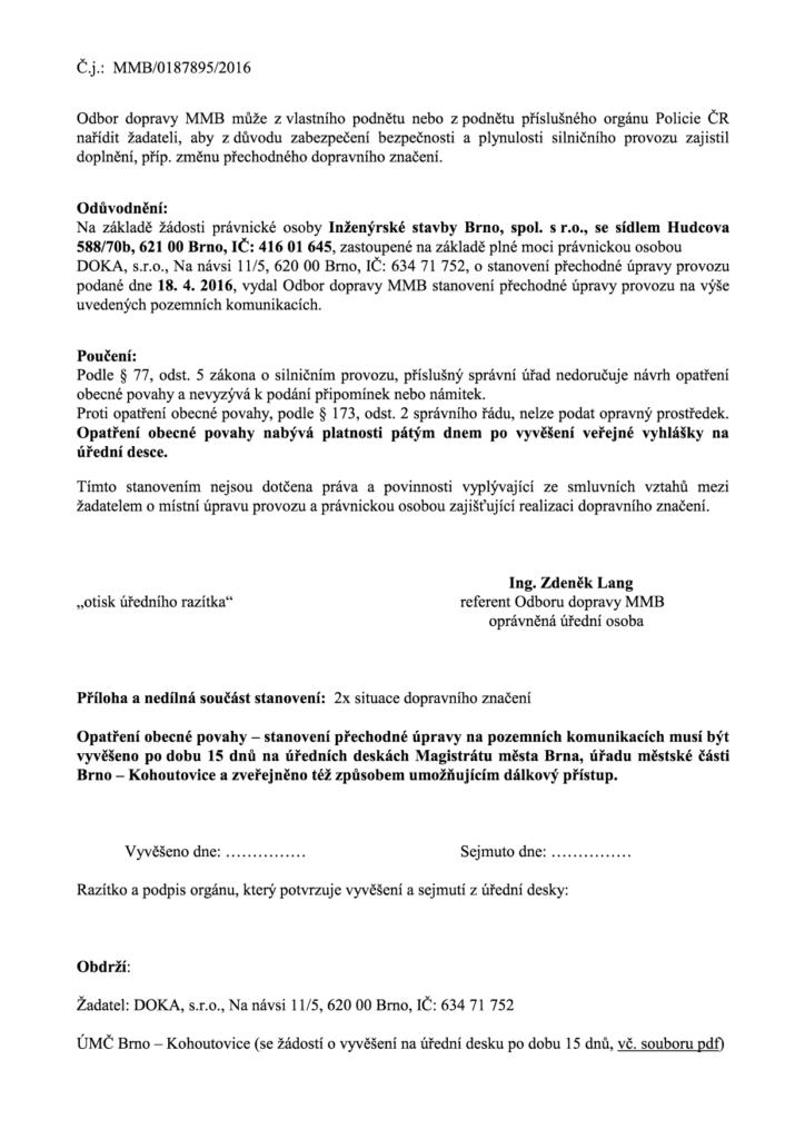 Veřejná vyhláška DOKA_Libusina_trida-bellova-Pavlovská-zastávka-doprava-brno-kohoutovice-mojekohoutovice2