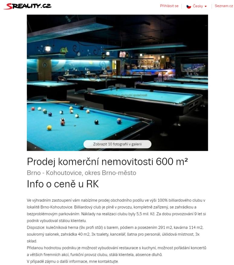 yellow-fish-brno-kohoutovice-mojekohoutovice-bar-kulečník-prodej-inzerát
