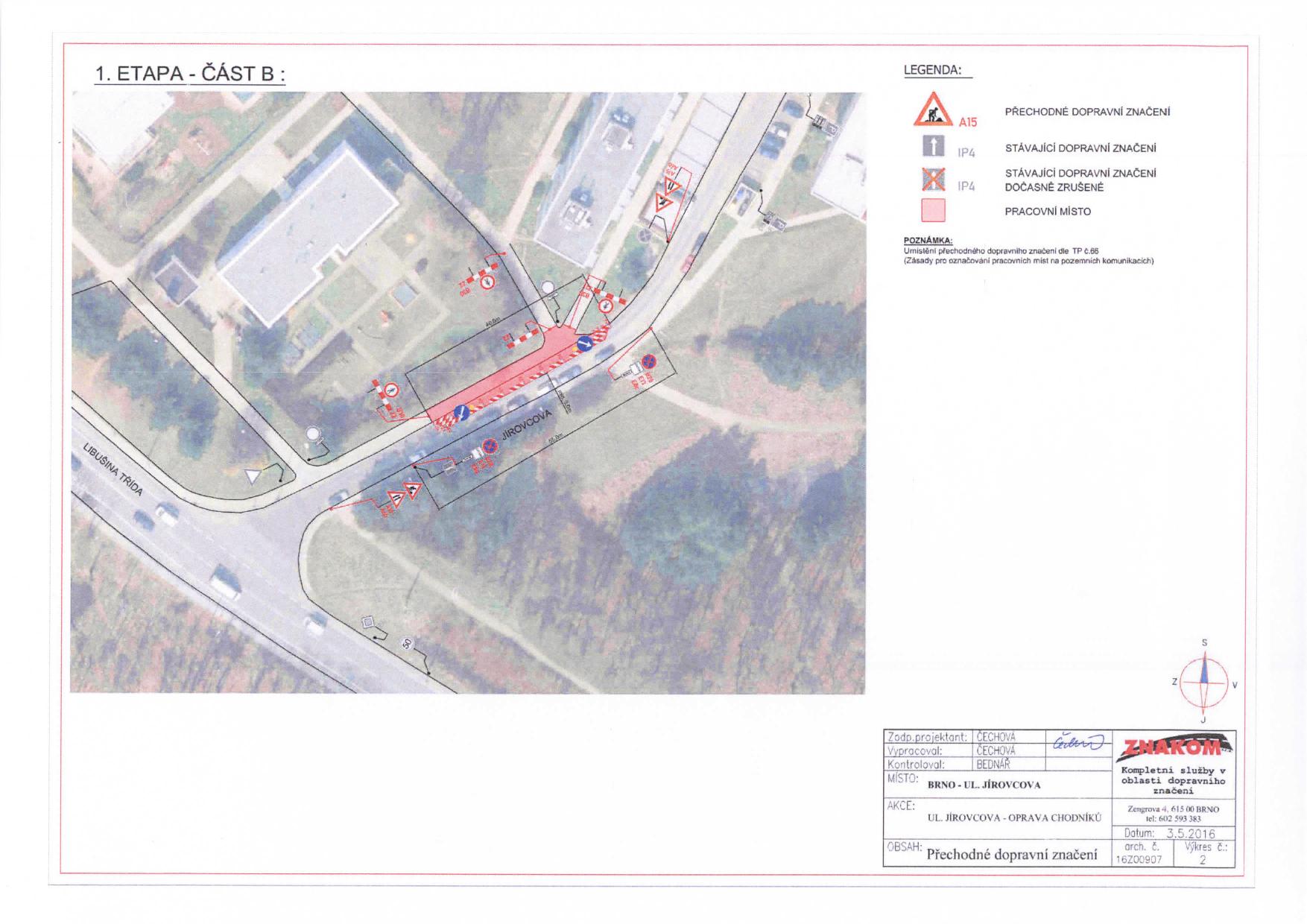 Stanovení přechodné úpravy provozu na komunikacích Jírovcova, Libušina třída, Chironova brno-kohoutovice-mojekohoutovice-05