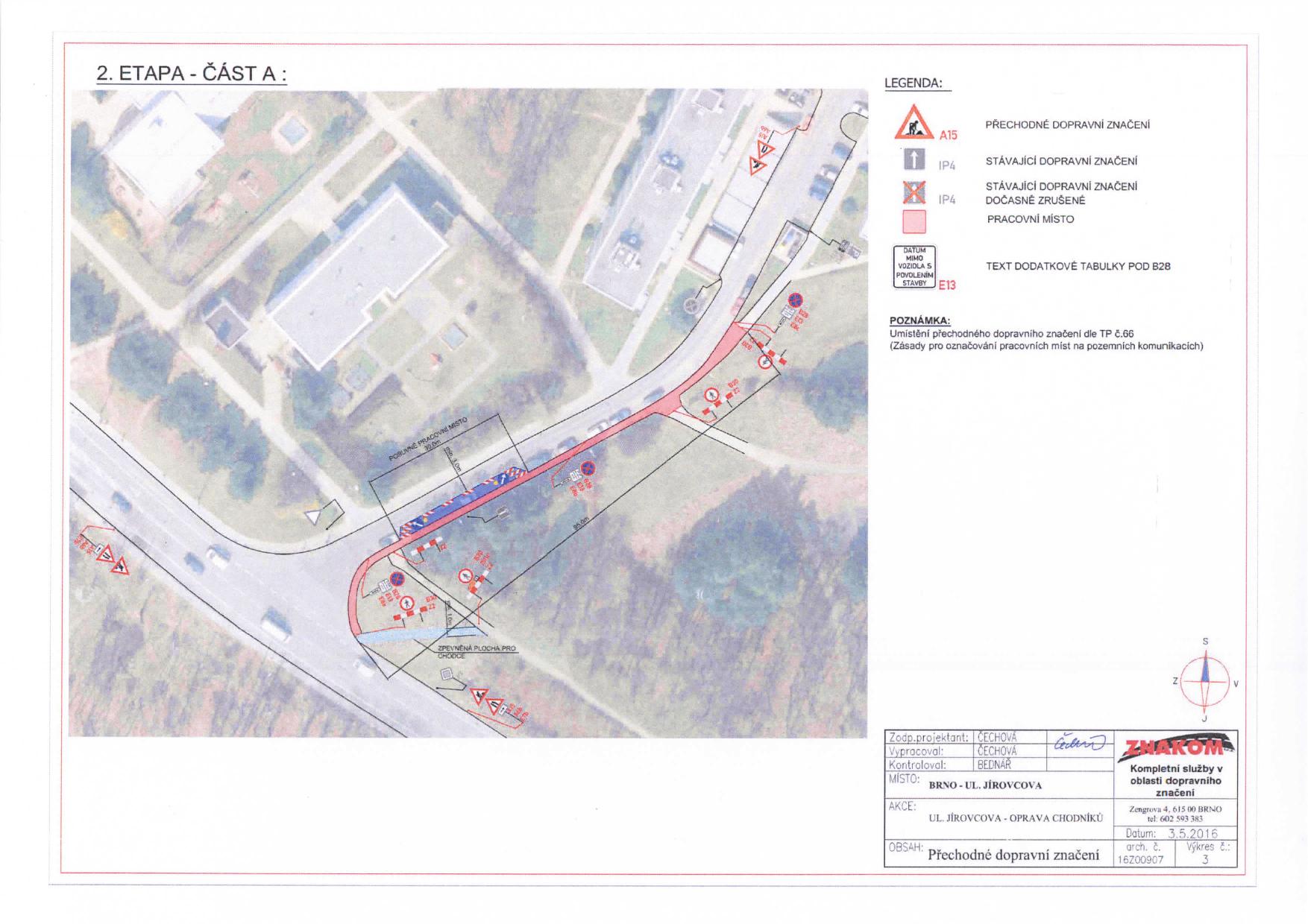 Stanovení přechodné úpravy provozu na komunikacích Jírovcova, Libušina třída, Chironova brno-kohoutovice-mojekohoutovice-06