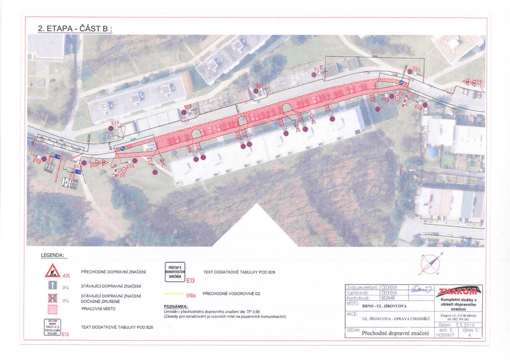 Stanovení přechodné úpravy provozu na komunikacích Jírovcova, Libušina třída, Chironova brno-kohoutovice-mojekohoutovice-07