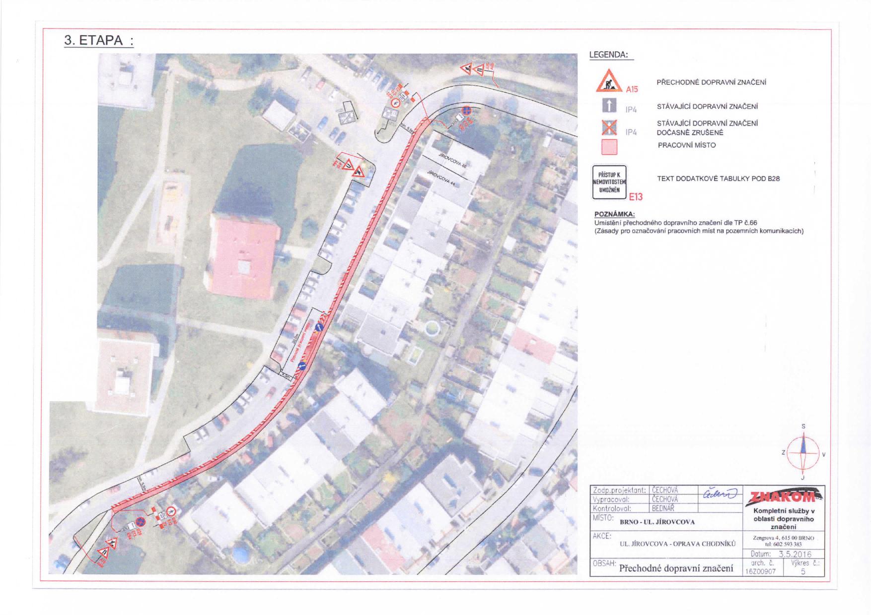 Stanovení přechodné úpravy provozu na komunikacích Jírovcova, Libušina třída, Chironova brno-kohoutovice-mojekohoutovice-08