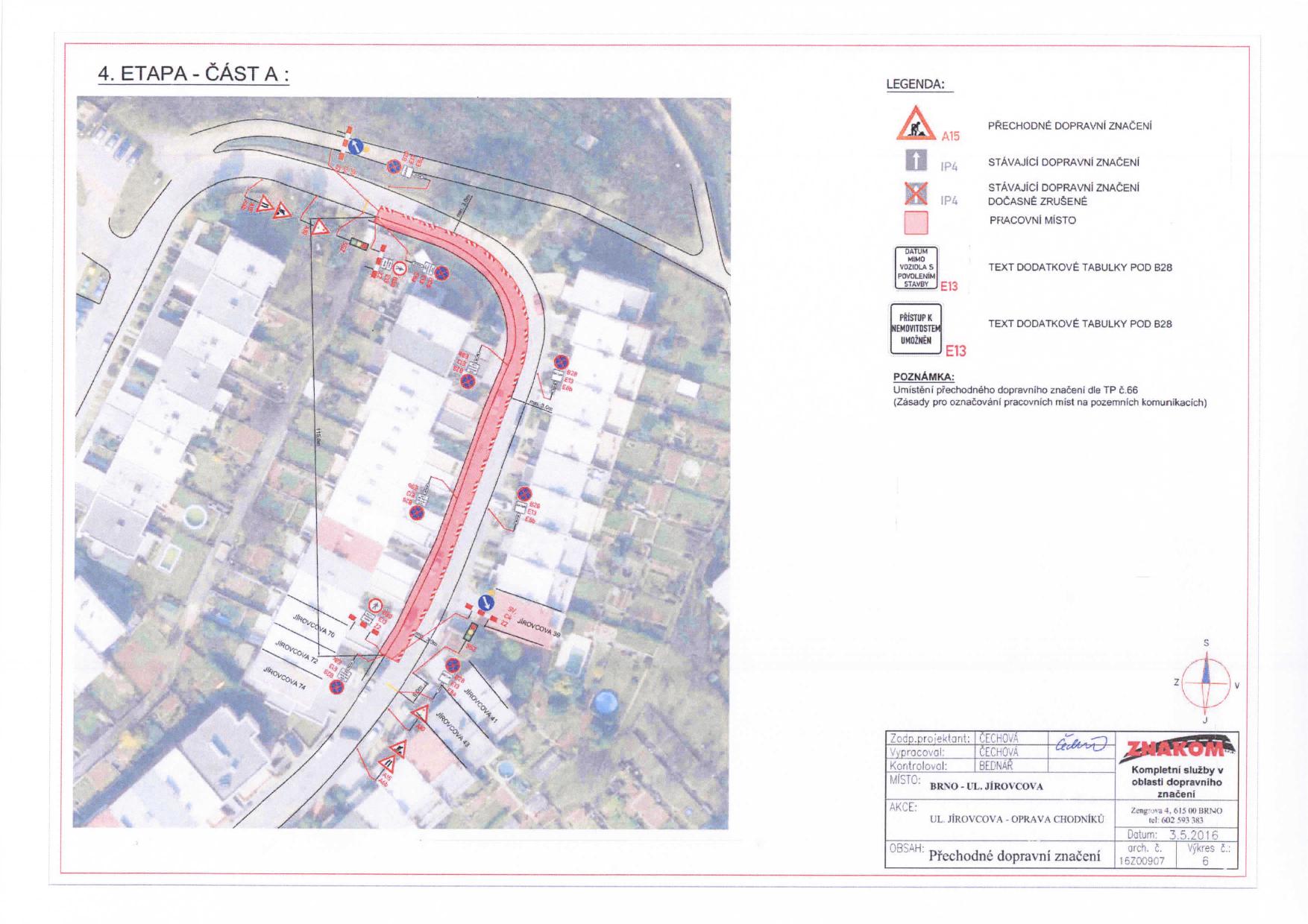 Stanovení přechodné úpravy provozu na komunikacích Jírovcova, Libušina třída, Chironova brno-kohoutovice-mojekohoutovice-09