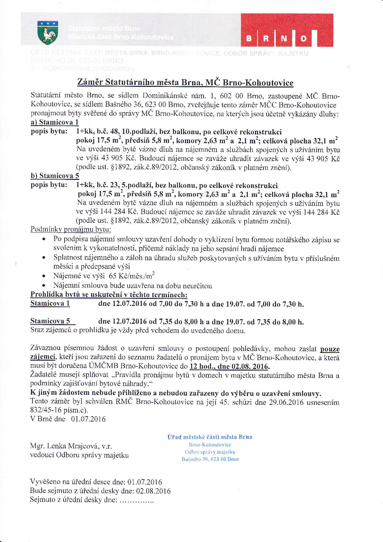 záměr obce - byty-stamicova-5-1-brno-kohoutovice-mojekohoutovice