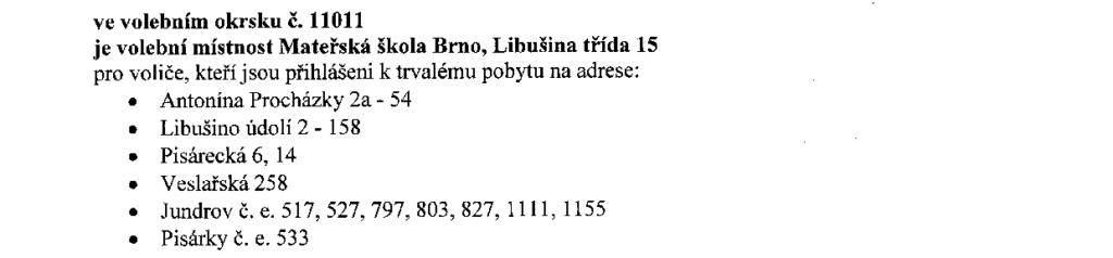 Informace o počtu a sídle volebních okrsků krajské volby 2016 brno-kohoutovice mojekohoutovice-3