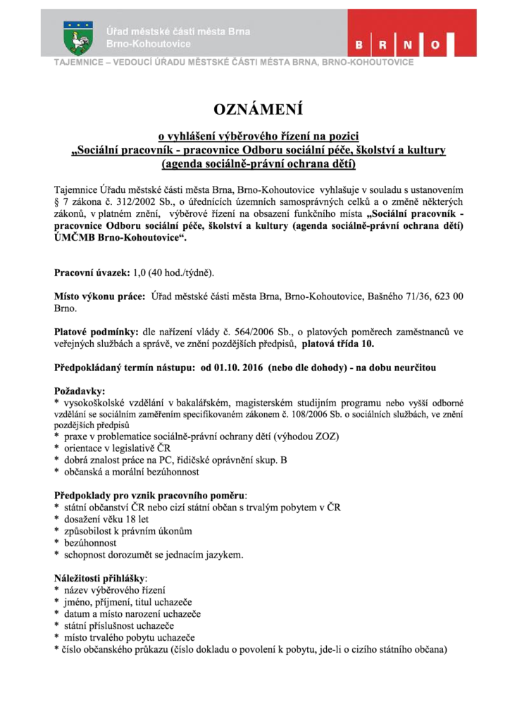 výběrové-řízení-sociální-pracovník-brno-kohoutovice-mojekohoutovice-1