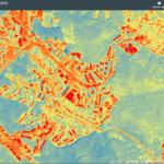 Mapa teplot za rok 2015! – nejrozpálenější povrch má střecha TESCANu, nejchladnější je Akvapark