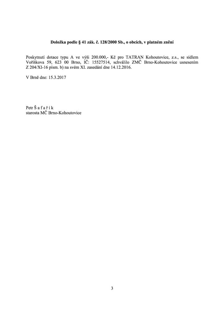 tatran 200000 dotace přeložka plynu-3