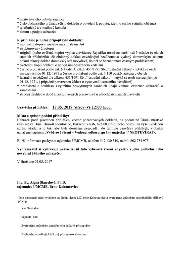 VŘ kohoutovice správa majetku2