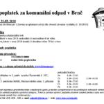 Místní poplatek za komunální odpad v Brně