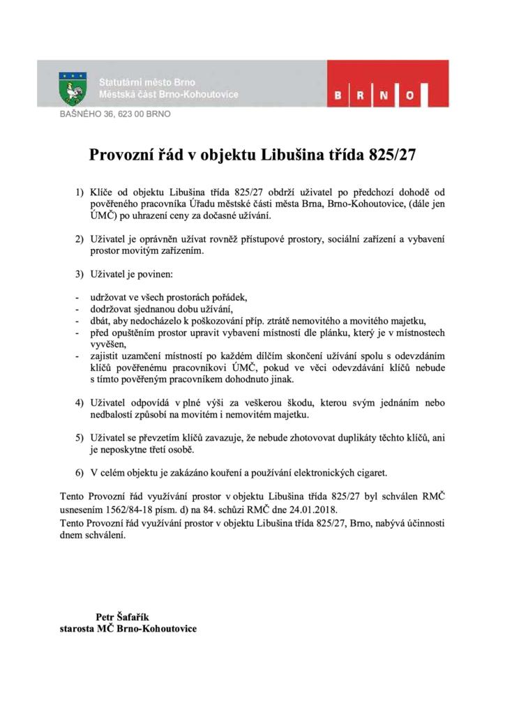 Platný provozní řád_Libusina trida 27