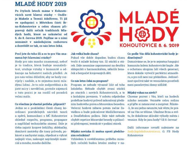 Kohoutovice, jak je chceme – občasník místní organizace KDU-ČSL Brno-Kohoutovice 1/2019